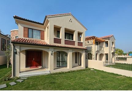 别墅建筑,装修,景观全部采用欧式风格,精装修交房,完全满足现代都市人